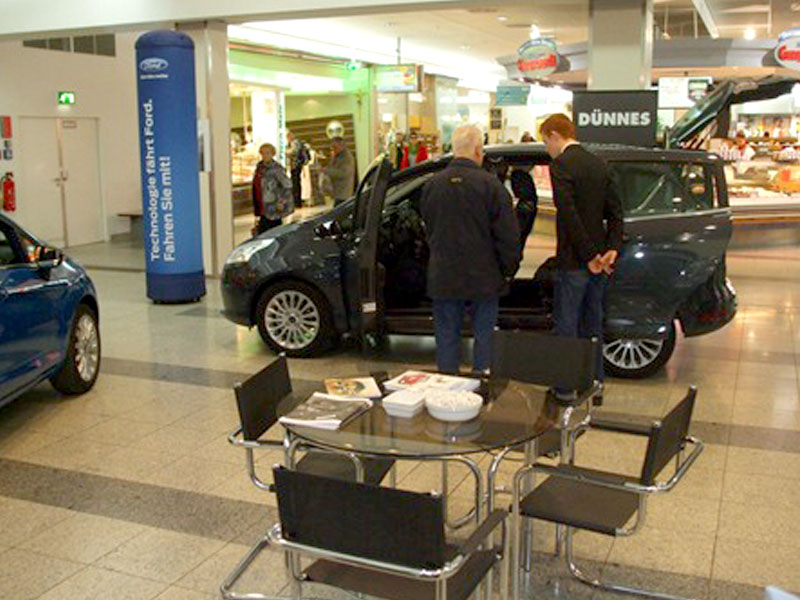 HGS promotion team at car show in shopping mall