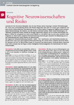 Cognitive neuroscience and risk